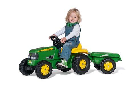 Šľapací traktor ROLLY TOYS John Deere s prívesom